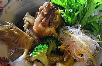 瀬戸内天然魚の兜料理